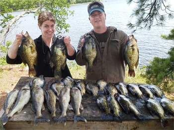 Lake of the Woods Fishing Trip - Crappies and Walleye